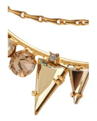 Elizabeth Cole - Metallic Dakota Gold-plated, Swarovski Crystal And Faux Pearl Necklace - Lyst