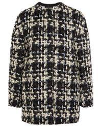 Giambattista Valli | Blue Wool-blend Tweed Coat | Lyst