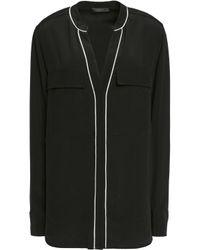 Belstaff - Black Milton Silk-crepe Shirt - Lyst