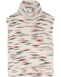 Elizabeth and James | White Intarsia-knit Turtleneck Sweater | Lyst