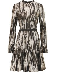 Lanvin - Multicolor - Fluted Printed Crepe Dress - Multi - Lyst