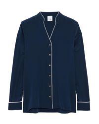 Iris & Ink - Blue Rumi Silk Pajama Shirt - Lyst