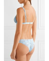 Cosabella | Blue Never Say Never Dreamie Stretch-lace Soft-cup Triangle Bra | Lyst