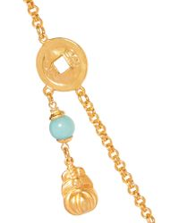 Ben-Amun | Metallic Gold-tone Beaded Necklace | Lyst
