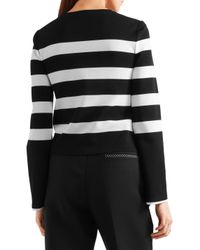 CALVIN KLEIN 205W39NYC - Black Striped Stretch-jersey Top - Lyst