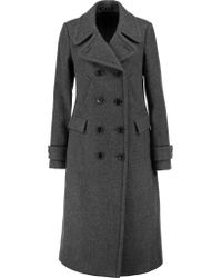Theory | Gray Kenshon Double-breasted Wool-blend Coat | Lyst