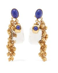 Etro - Metallic Gold-plated Embellished Earrings - Lyst