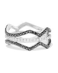 Khai Khai | Metallic Double Helix 18-karat White Gold Diamond Ring | Lyst