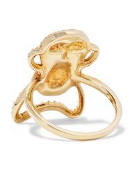 Khai Khai - Metallic Speak No Evil 18-karat Gold Diamond Ring - Lyst