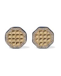 Elizabeth and James - Metallic Divi Gold-plated, Topaz And Enamel Earrings - Lyst