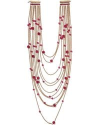 Rosantica | Red Galassia Gold-tone And Bead Necklace | Lyst