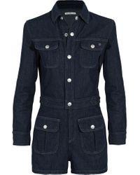 AG Jeans - Blue + Alexa Chung Loretta Denim Playsuit - Lyst