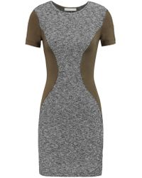 Kain - Gray Oliver Cotton-blend Bouclé And Jersey Mini Dress - Lyst