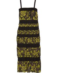 M Missoni | Black Paneled Knitted Cotton-blend Dress | Lyst