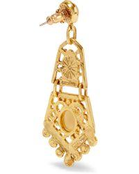 Ben-Amun - Metallic Gold-plated Stone Earrings - Lyst