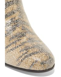 Golden Goose Deluxe Brand - Siena Metallic Printed Suede Ankle Boots - Lyst