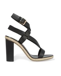 Tory Burch | Black Marbella Leather Sandals | Lyst