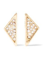 Rebecca Minkoff   Metallic Gold-tone Crystal Earrings   Lyst