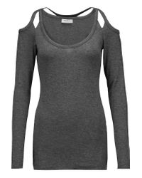 Bailey 44 | Gray Monarch Cutout Stretch-jersey Top | Lyst
