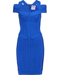 Hervé Léger | Blue Bandage Mini Dress | Lyst