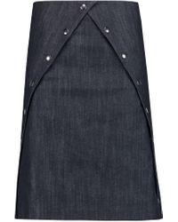 J.W.Anderson - Blue Button-detailed Denim Skirt - Lyst