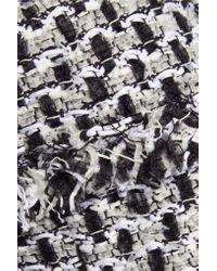 Oscar de la Renta   Black Cropped Bouclé-tweed Jacket   Lyst