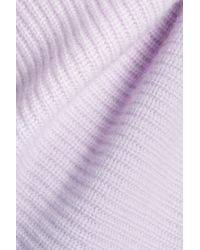 N.Peal Cashmere - Purple Fluted Cashmere Sweater - Lyst