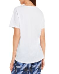 Mikoh Swimwear | White Printed Cotton-jersey T-shirt | Lyst