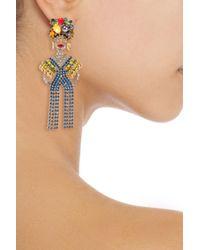 Elizabeth Cole - Metallic Gold-tone Crystal Earrings - Lyst
