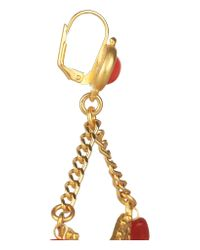 Kenneth Jay Lane - Metallic Gold-plated Resin Drop Earrings - Lyst