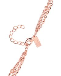 Arme De L'Amour - Multicolor Rose Gold-plated Multi-strand Necklace - Lyst