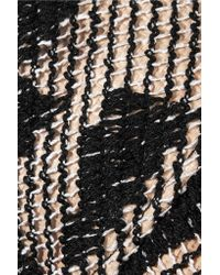 Missoni - Black Crochet-knit Cotton-blend And Woven Raffia Unhat - Lyst