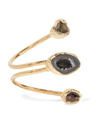 Dara Ettinger - Blue Gold-plated Stone Ring - Lyst