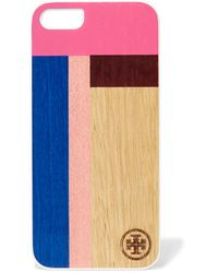 Tory Burch - - Color-block Hard-shell And Wood Iphone 5 Case - Pink - Lyst