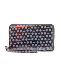 Marc By Marc Jacobs | Blue Wingman Printed Iridescent Pvc Wallet | Lyst