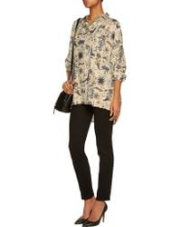Vivienne Westwood Anglomania - Natural Hound Oversized Printed Washed-faille Shirt - Lyst