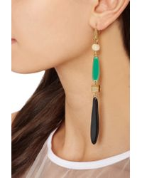 Isabel Marant - Black Gold-plated Resin Earrings - Lyst