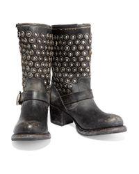 Frye - Black Natalie Short Engineer Boots - Lyst
