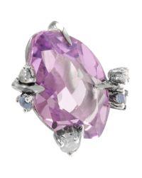 Alexis Bittar - Purple Silver Multi-stone Earrings - Lyst