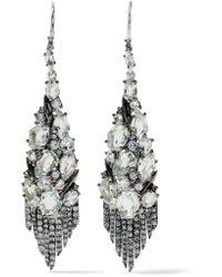 Alexis Bittar | Metallic Sterling Silver Multi-stone Earrings | Lyst