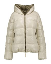 Duvetica | White Thia Quilted Shell Down Hooded Coat | Lyst