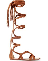 Sigerson Morrison | Brown Boni Suede Gladiator Sandals | Lyst
