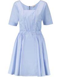 Nina Ricci - Blue Cotton-poplin Dress - Lyst