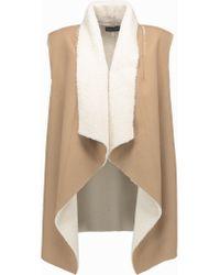 Splendid | Natural Keane Faux-shearling Vest | Lyst