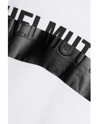Helmut Lang - White Printed Cotton And Modal-blend Jersey T-shirt - Lyst