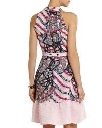Peter Pilotto - Multicolor Printed Silk-jersey Mini Dress - Lyst