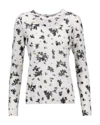 Proenza Schouler | White Printed Cotton Top | Lyst