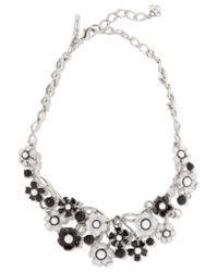 Oscar de la Renta | White Silver-tone, Faux Pearl And Resin Necklace | Lyst