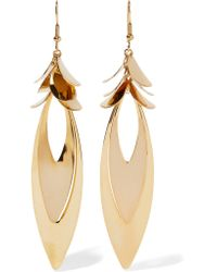 Kenneth Jay Lane | Metallic Gold-plated Earrings | Lyst