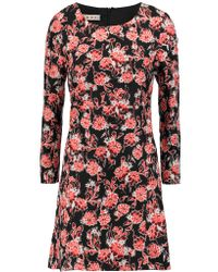 Marni | Red Floral-print Cotton And Silk-blend Dress | Lyst